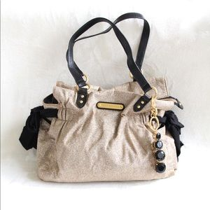 Juicy Couture Gold Glitter Tote